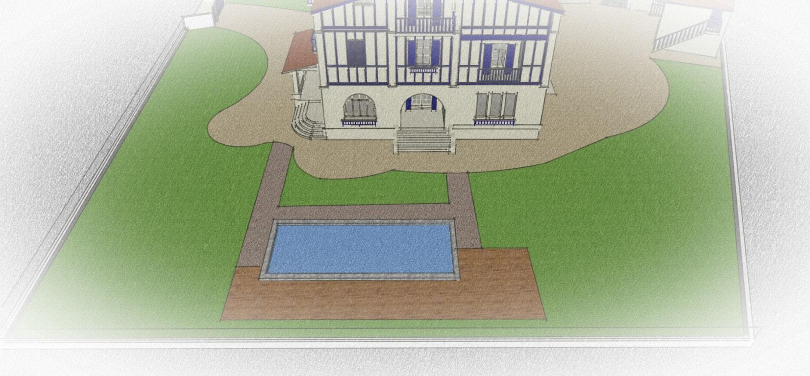 Paysagiste-Bayonne-piscine-création cheminement-et-zone-de-vie-14